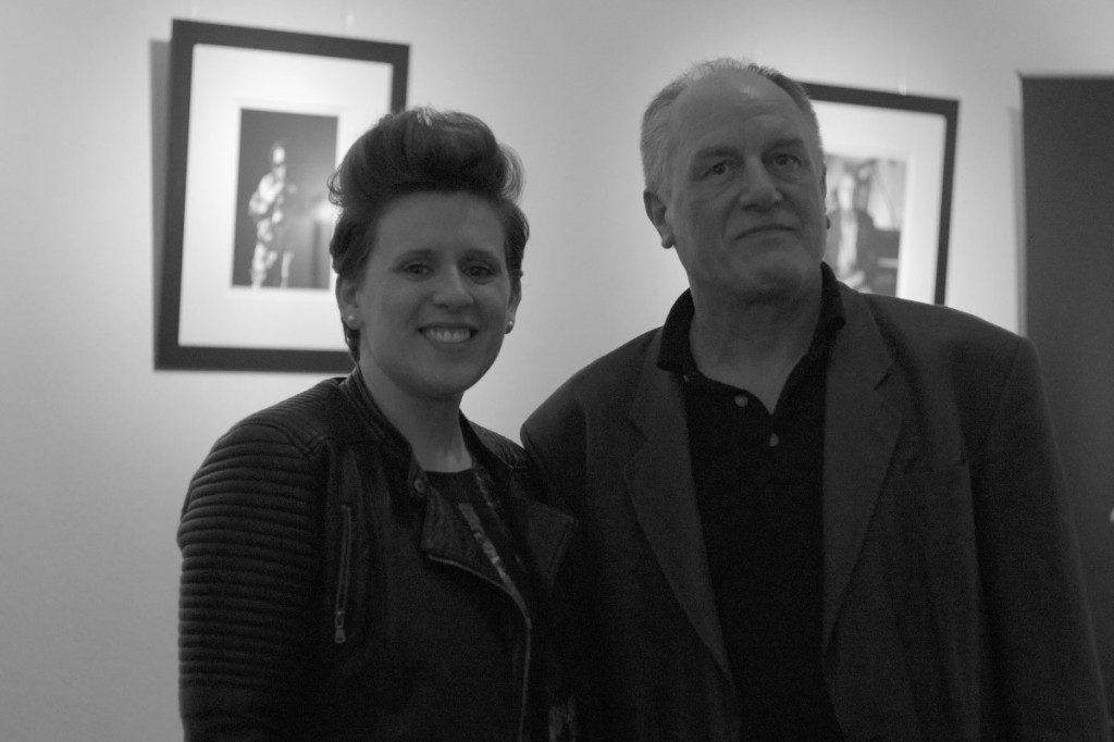 Maeve O'Boyle mit Jürgen Achterholt nach ihrem Konzert im HiFi-Studio
